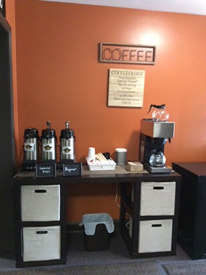 Chiropractic Corry PA Refreshments at Iadeluca Chiropractic